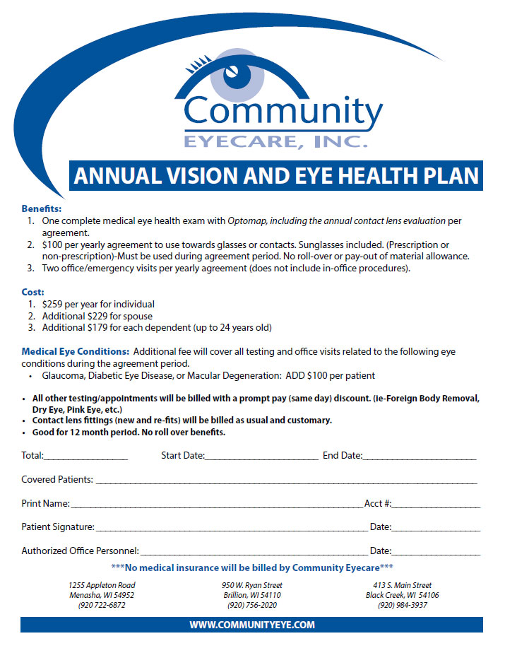 vision and eye health plan